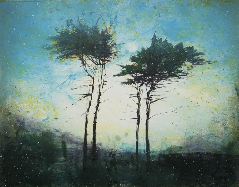 "Elizabeth Magill ""Blue Hold"" lithograph Manifold Editions £900"