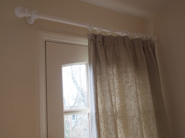 Handmade lined door curtain