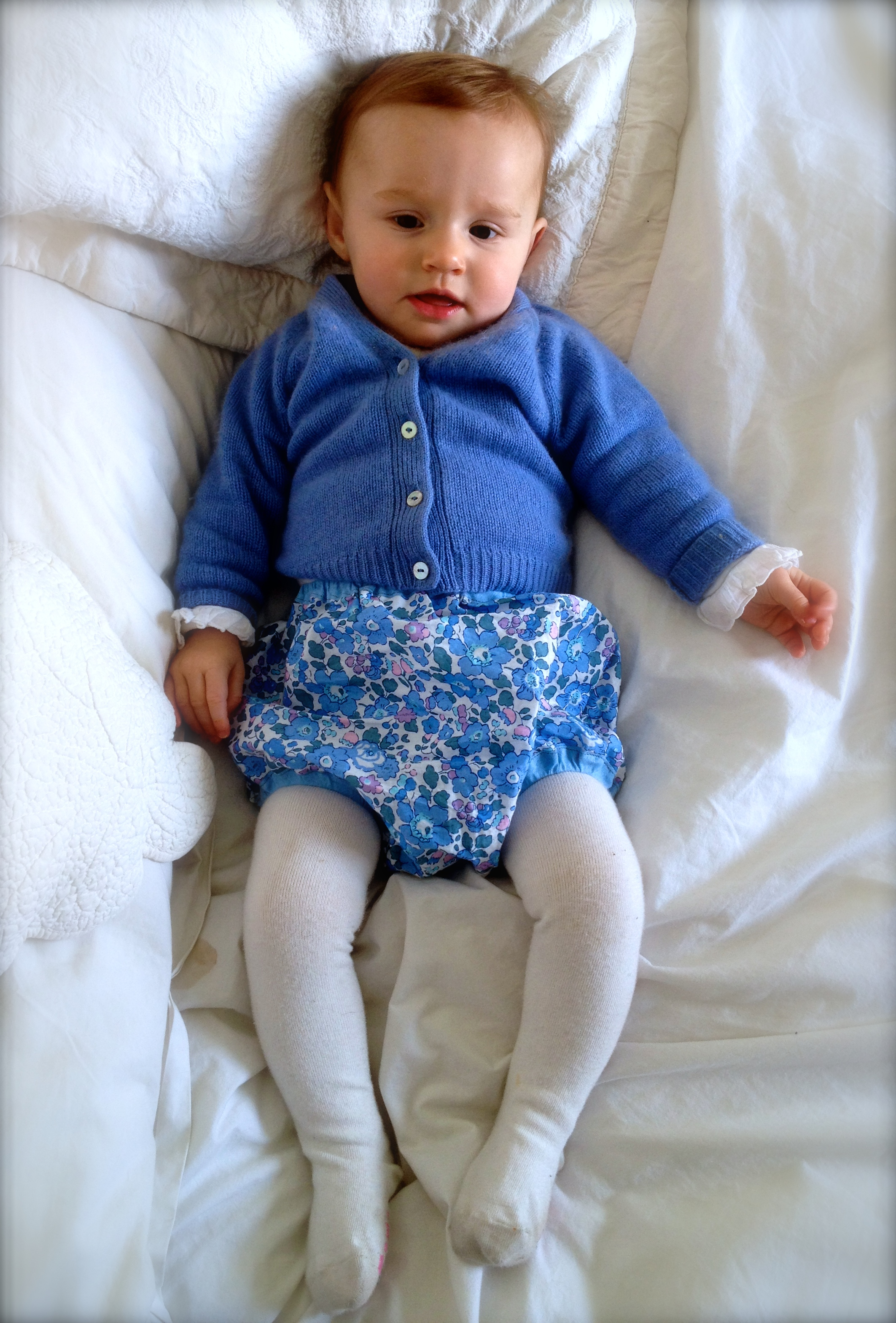 Liberty print baby bloomers