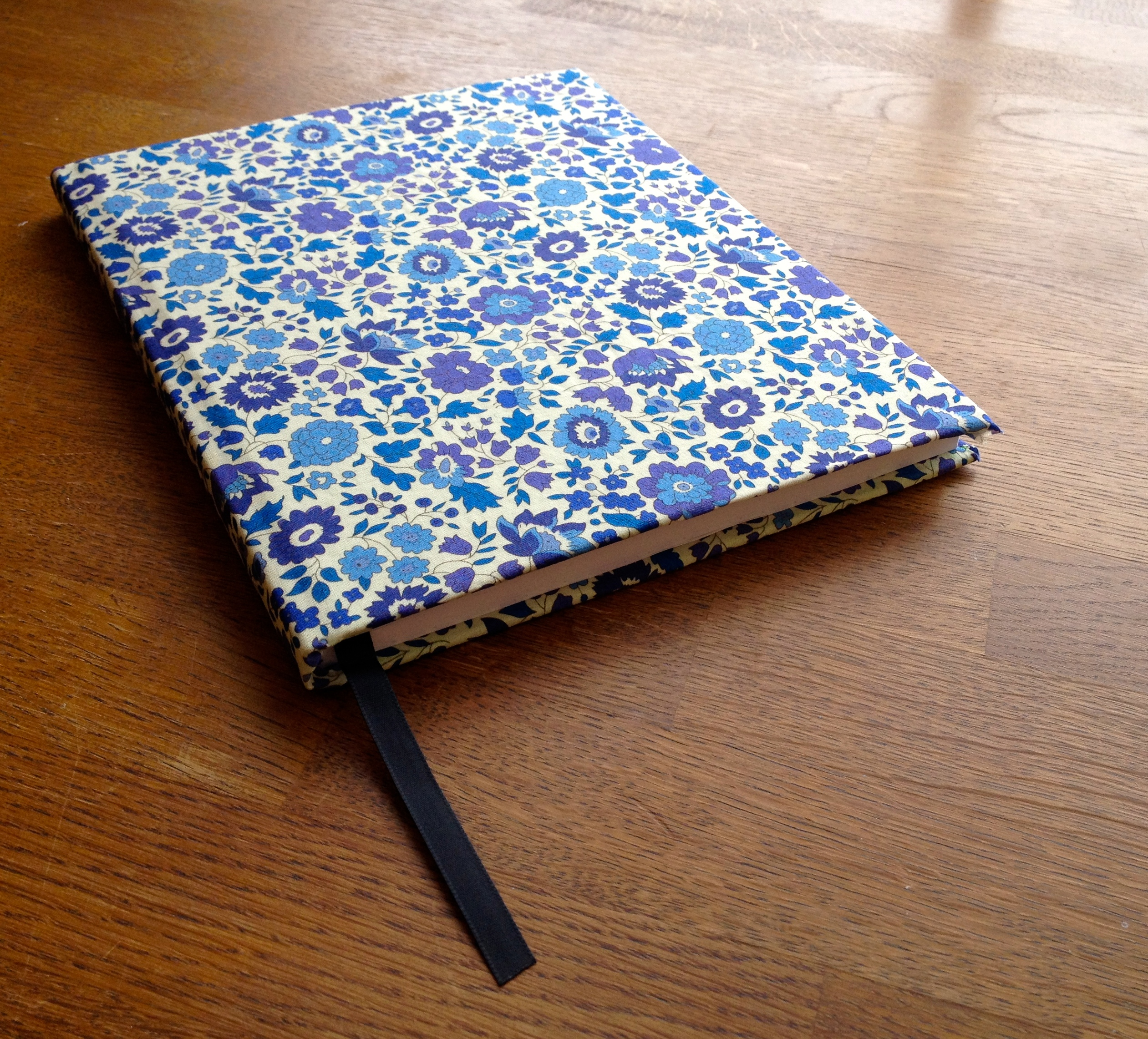 Liberty print fabric covered diary